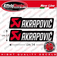 2 Adesivi / Sticker AKRAPOVIC  ALTE TEMPERATURE marmitte scarichi NEW col. 2