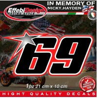 ADESIVI STICKERS 69 Kentucky Kid Nicky Hayden In Memory HIGHT QUALITY!