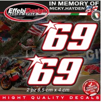 ADESIVI STICKERS 69 Kentucky Kid Nicky Hayden In Memory HIGHT QUALITY! 3