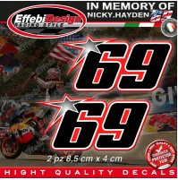 ADESIVI STICKERS 69 Kentucky Kid Nicky Hayden In Memory HIGHT QUALITY! 5
