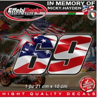 ADESIVI STICKERS 69 USA Flag Kentucky Kid Nicky Hayden In Memory HIGHT QUALITY!1