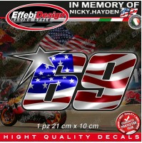 ADESIVI STICKERS 69 USA Flag Kentucky Kid Nicky Hayden In Memory HIGHT QUALITY!2