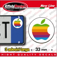 ADESIVI sticker bollino targa/plate APPLE OLD auto, moto,Iphone, Imac, Ipod, NEW