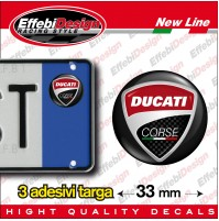 ADESIVI sticker bollino targa/plate DUCATI CORSE Monster Panigale Streetfighters