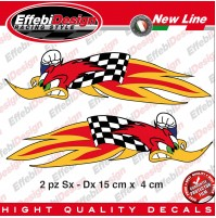 ADESIVI/STICKERS BIRD RACING HONDA AMA SBK SUPERCROSS HRC MXGP MOTOGP SCACCHI