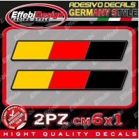 Adesivi / Sticker GERMANY GERMANIA FLAG BANDIERA 2PZ TOP QUALITY SUPER PROMO