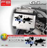 Adesivi Stickers Bmw R1200 GS ADVENTURE Planisfero World Map Valigie Alluminio