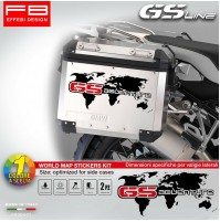 Adesivi Stickers Bmw R1200 GS ADVENTURE Planisfero World Map Valigie Suitcase