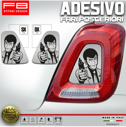 Adesivi Stickers Fiat 500 Abarth 595 695 Lupin Fari Rear Headlight Carbon Look
