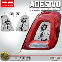 Adesivi Stickers Fiat 500 Abarth 595 695 Lupin Gigen Fari Headlight CarbonLook