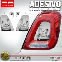 Adesivi Stickers Fiat 500 Abarth 595 695 Lupin Margot Fari Headlight CarbonLook