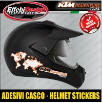 Adesivi Stickers KTM helmet casco ADVENTURE TOUR 990 1050 1090 1290 S R panniers