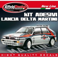 Adesivi Stickers Kit Lancia Delta Martini Racing Evoluzione Integrale HF Rally