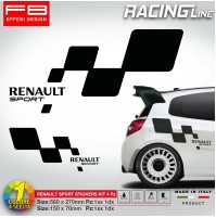 Adesivi Stickers Kit RENAULT SPORT Clio Williams Megane R.S Twingo Gt 3.0 V6