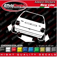 Adesivi Stickers Pegatinas Fiat UNO TURBO I.E MK 1 tuning auto car down-out-dab