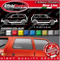 Adesivi Stickers Pegatinas Fiat UNO TURBO I.E tuning auto car down-out-dab rally