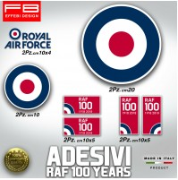 Adesivi Stickers Pegatinas Kit RAF 100 YEARS ROYAL FORCE ENGLAND 1918 FLAG VESPA