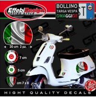 Adesivi Stickers kit VESPA PIAGGIO 70 YEARS FLAG ITALY PRIMAVERA BANDIERE GTS PX