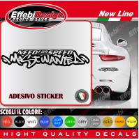 Adesivi Stikers NEED FOR SPEED auto car most wanted decals SCEGLI IL COLORE!!!