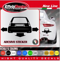 Adesivi Stikers RENAULT 5 GT TUNING auto car down-out-dab decal SCEGLI COLORE!!