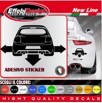 Adesivi Stikers TOYOTA YARIS  TUNING auto car down-out-dab decal SCEGLI COLORE!