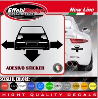 Adesivi Stikers VW GOLF VERS 4 TUNING auto car down-out-dab decal SCEGLI COLORE!