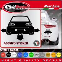Adesivi Stikers VW GOLF VERS 6 TUNING auto car down-out-dab decal SCEGLI COLORE!