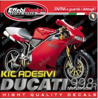 Adesivi/Stickers Kit DUCATI 998 R Testastretta compatibili original TOP QUALITY