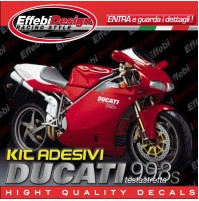 Adesivi/Stickers Kit DUCATI 998 S Testastretta compatibili original TOP QUALITY