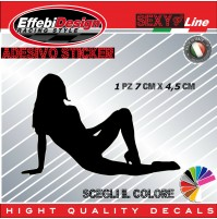 Adesivo Sticker SEXY DONNA LADY WOMAN TUNING YouPorn decals sagoma