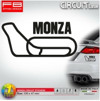 Adesivo Stickers MONZA Circuit F1 Ferrari Moto GP Rally VR 46 Tuning car ITALY