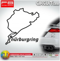 Adesivo Stikers NURBURGRING Circuit F1 Moto GP Germany Nordschleife tuning auto