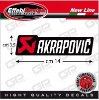 Adesivo/Sticker AKRAPOVIC ALTE TEMPERATURE 200 gradi !! scarichi NEW col. 2 !