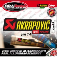 Adesivo/Sticker AKRAPOVIC APRILIA RACING ALTE TEMPERATURE 200° RSV 4 1000 SRV RS