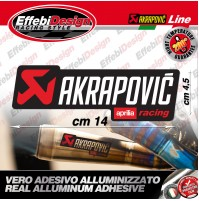 Adesivo/Sticker AKRAPOVIC APRILIA RACING ALTE TEMPERATURE 200° RSV 4 1000 TUONO