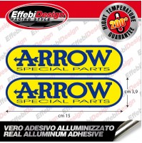 Adesivo/Sticker ARROW 2pz ALTE TEMPERATURE 200 gr EXHAUST SCARICHI HIGHT QUALITY