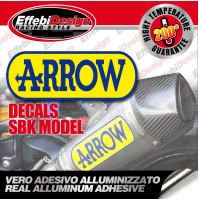 Adesivo/Sticker ARROW SBK EVO2 ALTE TEMPERATURE 200 SCARICHI EXHAUST TOP QUALITY