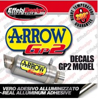 Adesivo/Sticker ARROW SBK GP2 ALTE TEMPERATURE 200 SCARICHI EXHAUST TOP QUALITY