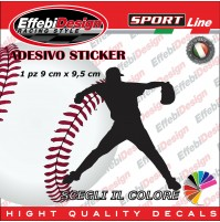 Adesivo/Sticker BASEBALL PLAYER IBAF carpetbaggers softball auto sagoma decals