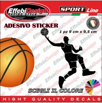 Adesivo/Sticker BASKET NBA JORDAN JOHNSON BIRD pallacanestro auto sagoma decals