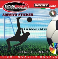 Adesivo/Sticker CALCIO PLAYER juve,toro,roma, auto moto vetrine sagoma decals