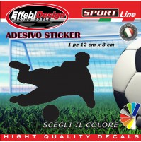 Adesivo/Sticker CALCIO PLAYER portiere, buffon auto moto vetrine sagoma decals