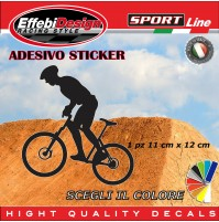 Adesivo/Sticker CICLISTA BIKE BICI PLAYER  auto moto vetrine sagoma decals