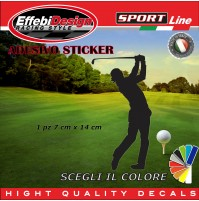 Adesivo/Sticker GOLF Player swin Woods Tiger  auto moto vetrine sagoma decals