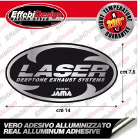 Adesivo/Sticker LASER ALTE TEMPERATURE 200 GRADI HOT CAME EXHAUST HIGHT QUALITY