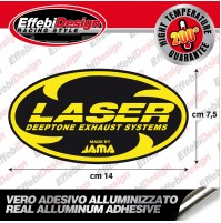 Adesivo/Sticker LASER ALTE TEMPERATURE 200 GRADI SCARICHI EXHAUST HIGHT QUALITY