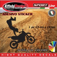 Adesivo/Sticker MOTO CROSS tuning bike auto moto vetrine sagoma decals