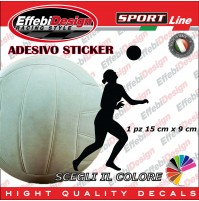 Adesivo/Sticker PALLAVOLO PLAYER VOLLEY FIVB WORLD CUP auto sagoma decals