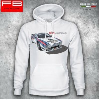 Felpa Hoodie Lancia 037 Martini Racing Abarth Rally Legend S4 M.Biasion FB TEE