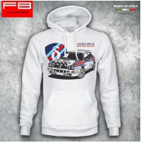Felpa Hoodie Lancia Delta HF Martini Racing Evoluzione Integrale Rally Champion